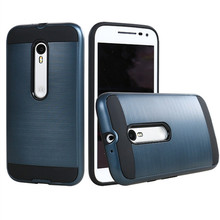 Wholesale hard brushed metal armor case for motorola moto x play, back cover for moto x play