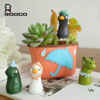 ROOGO resin animal decorative garden flower pot figure decorate your house