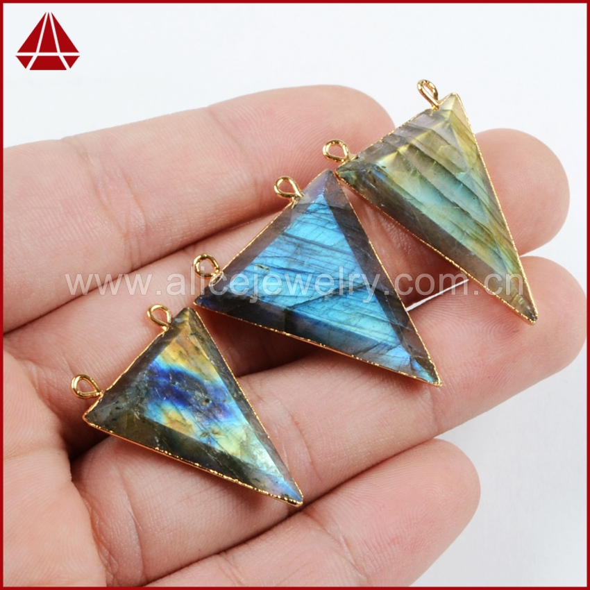 Gold Supplier Blue Fire Labradorite Pendant Jewelry From Guangzhou Jewelry Factory