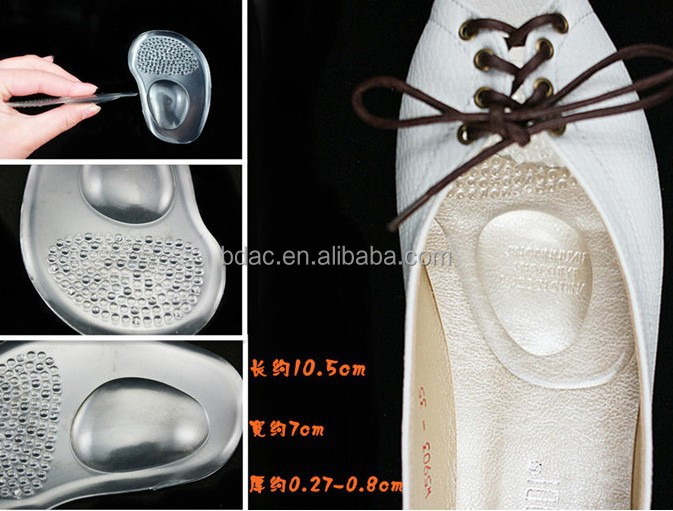 lady high heel shoe adhesive forefoot pad
