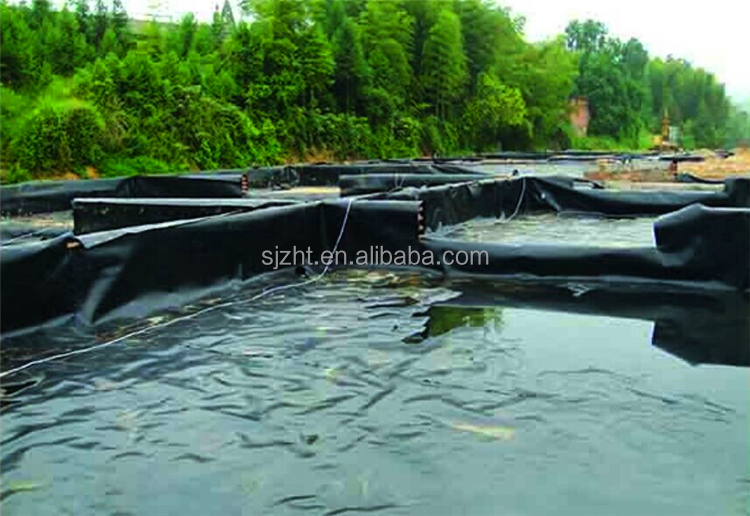 Smooth surface hdpe geomembrane for fish farm pond liner for Surface fish ponds