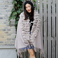 CX-B-P-38A Fashion Cashmere Pashmina Scarf And Shawl With Rabbit fur Wholesale
