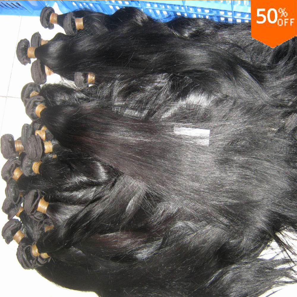 Silky Extensions Straight Brazilian virgin Remy hair bulk 20pcs/lot African <strong>Weave</strong> Market