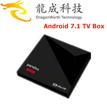 Professional Pendoo A5X Plus Mini RK3328 1G 8G ott tv box 4k Bluetooth 4.0 Android 7.1 TV Box