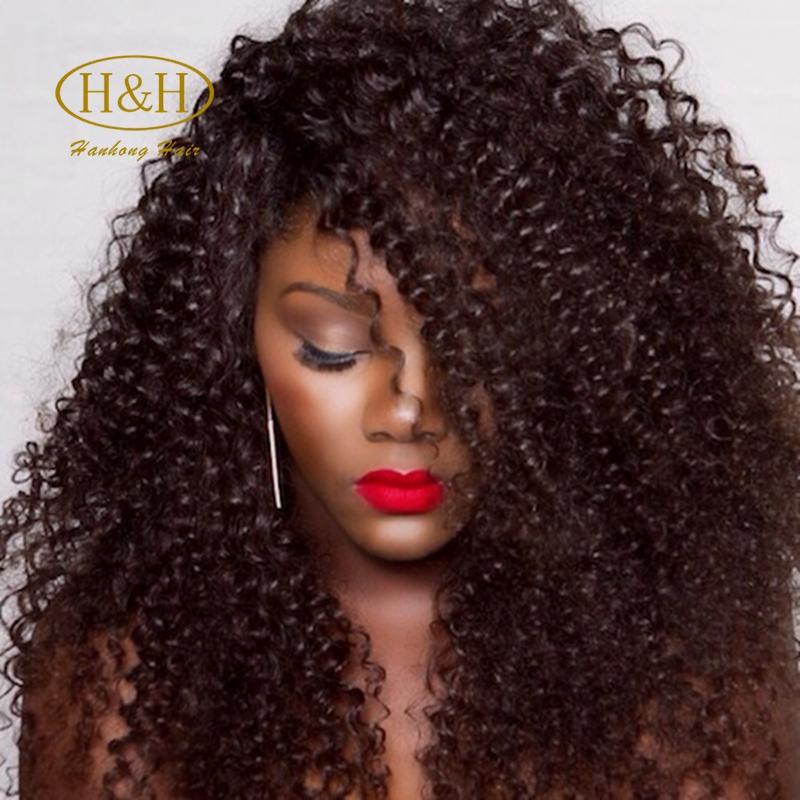 Short Fashion Afro Kinky Curly Indian Virgin Human Remy Hair Machine