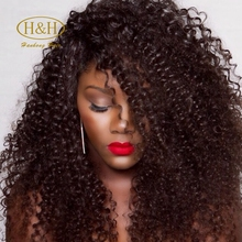 Short Fashion Afro Kinky Curly Indian Virgin Human Remy Hair Machine Made Thick Glueless None Lace Full Wigs for Black Women