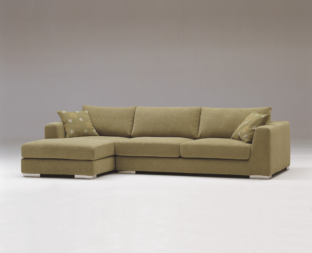 Apple green color fabric sofa buy green sofa green for Muebles italianos modernos