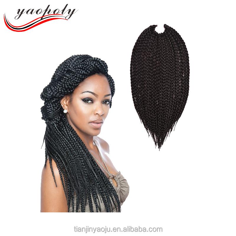 Wholesale 3x Box Braid Pre Twisted Crochet Braid Hair Extension No