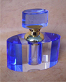blue crystal perfume bottle glass