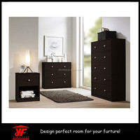 Dark Brown Wood 3 Piece Set