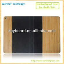 Handcraft natural wood cover for ipad 2/3/4 case