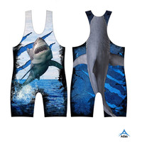 Sublimated top quality promotional wrestling singlets for men