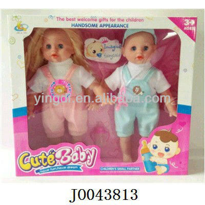 popular item 14 inch soft vinyl mini baby dolls baby toys wholesale baby doll cotton body with IC