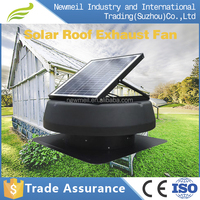 Factory supply 12 inch 14 inch solar powered ventilator roof mounted attic fan exhaust fan