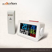 color display rf weather station wireless clock