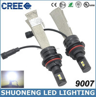Free Shipping Latest 6000lm 40W 6500K Hi Lo Beam Conversion Kit 9007 HB5 LED Head Bus Lighting