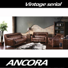 Aviator Genuine Leather sofa A121