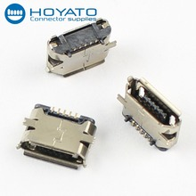 Micro USB Female Port Type B 5 Pins Connector 180 Degree SMD SMT Soldering PCB Mount