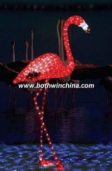 LED animado 3D animal motif luces/hermoso flamenco