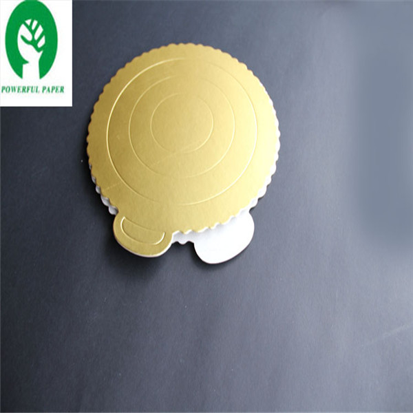 Golded/silver mini cake boards/Aluminium paper board for cake tray