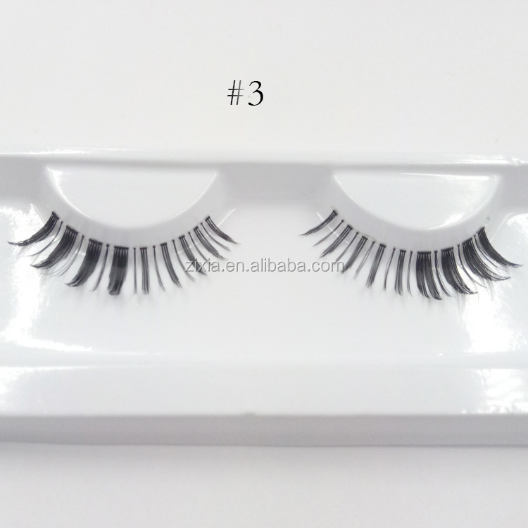 Selling 2017 High quality custom made horse hair eye lashes, waterproof false eyelashes