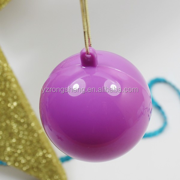 hollow plastic ball,Plastic Christmas Ball Decoration Gift,open xmas baubles