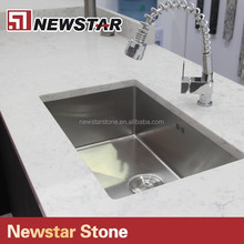 Popolar White Sparkle marble Quartz Stone Artificial Stone kitchen countertop