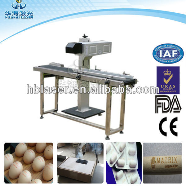 Promotion Price 30W Flying Co2 Laser Printing Machine for button production line with Logo&Letters