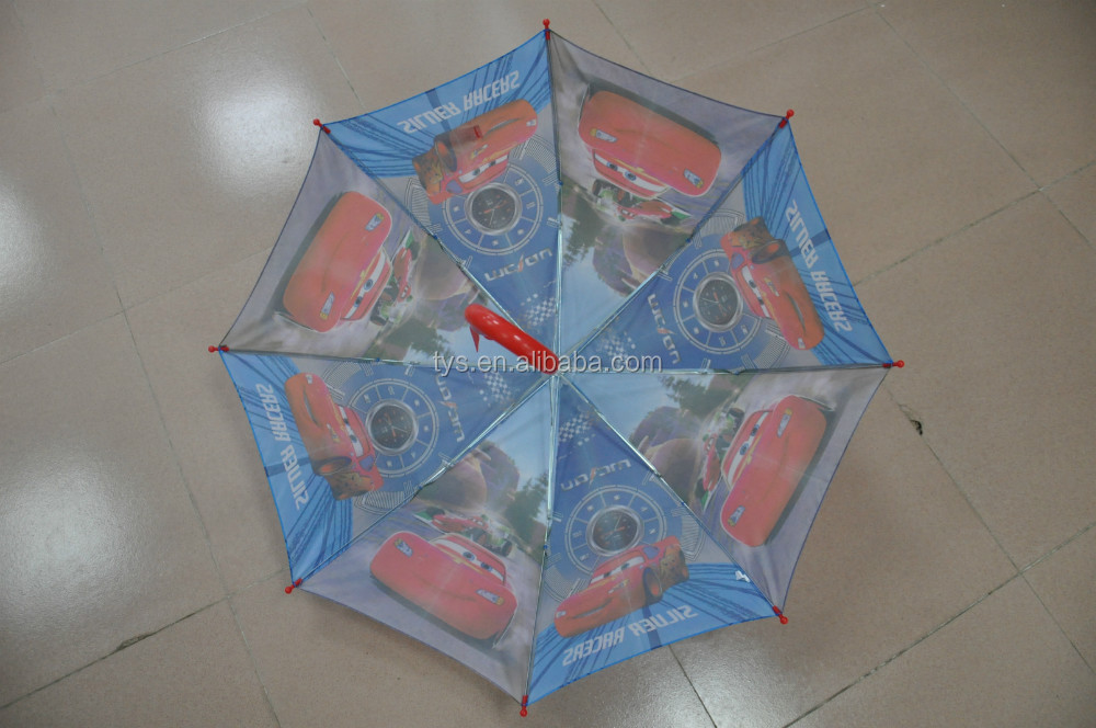 Straight kids automatic cartoon design umbrella,cartoon children umbrella