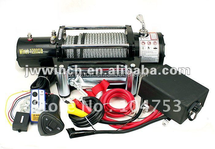JW 4wd recovery winch 12000lbs 12V/24V motor