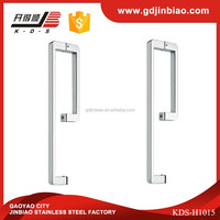 High Quality Stainless Steel L Shape Glass Door Pull Handle(KDS-H1015)