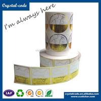 Matte coated silver foil sticker paper,self adhesive golden foil label