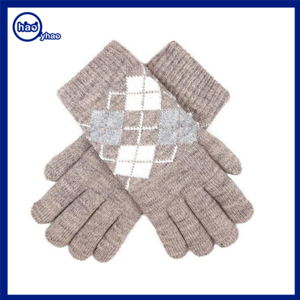 Yhao amazon supplier snowflake pattern ladies new design winter warm gloves women ladies fashion dresses with pictures hand warm