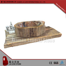 Professional factory price petrified wood small toilet sink