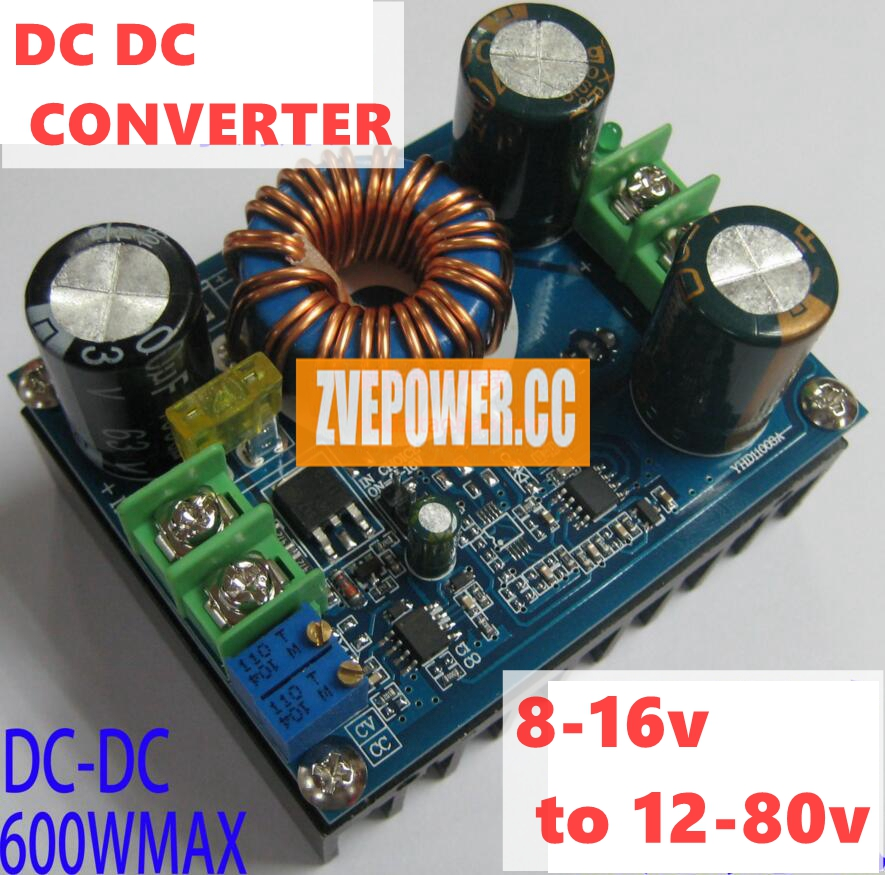 dc dc boost converter 600w 10a adjustable power module 8-16v to 12-80v for led drive/car charging