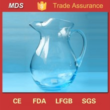 Big shaped decorative cheap glass water filter pitcher