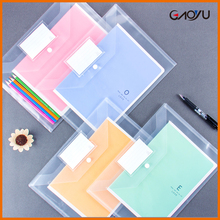 Wholesale Promotion gifts cheap DIY School expanding plastic wallets A4 A5 PP file pocket