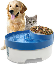 Dog products company multifunctional pet food bowl pw-101 3 in 1 pet water fountain