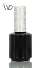 customed UV gel polish bottle with brush cap AL-15023 shining black gel nail polish packaging