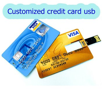 Promotional gift waterproof credit card usb flash drive with customized logo 1gb 2gb 4gb 8gb 16gb