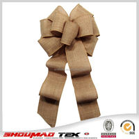 Factory price promotional burlap christmas bow