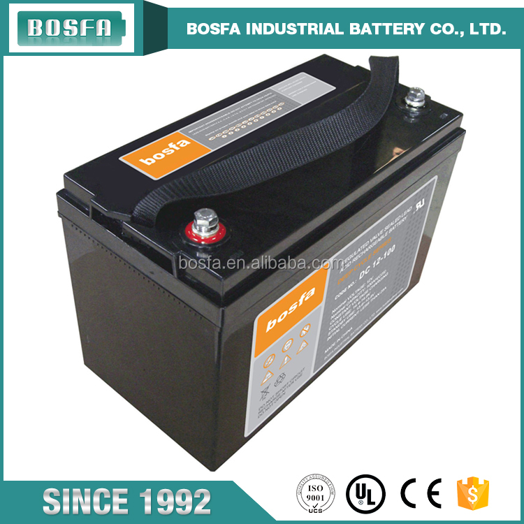 Hot sale free maintenance solar deep cycle battery 12v 100ah lead acid battery for UPS system