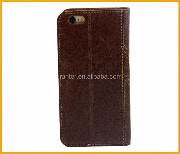 Custom for iPhone 6 Flip Case Leather Luxury Mobile Cell Phone Wallet Case