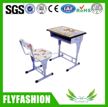 adjustable single kid's desk&chair/cheap school study desk&chair/school desk and chair