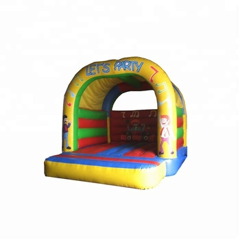 Outdoor 0.55mm PVC pink inflatable jumping castle