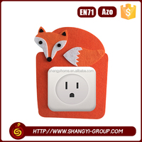 2016 New item creative design fox shape switch use wall home decor