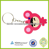 High quality promotion gift soft pvc key covers house shaped keychains