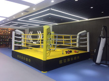 customized 5m x 5m x 50cm international competition boxing ring with logo