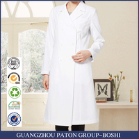 Doctor Gown 100% cotton or 30% cotton 70% polyester white lab coat medical Lab coat