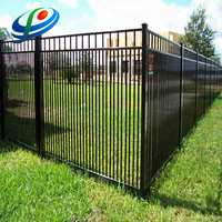 square tube solid steel palisade fence
